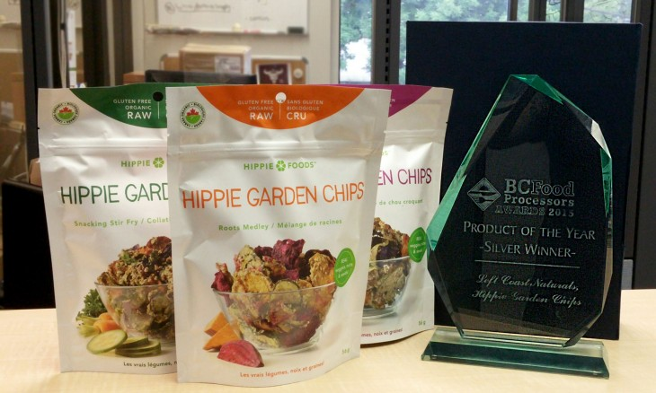 Hippie foods garden chips win sliver product of the year from the