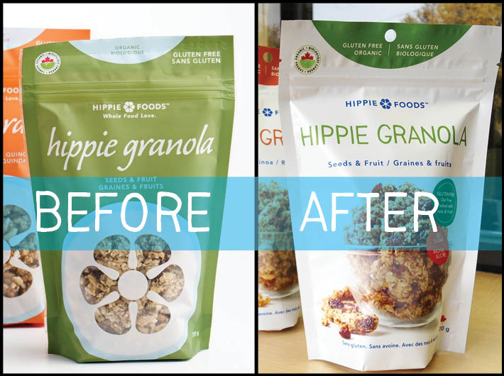 Granola BEFORE and AFTER image