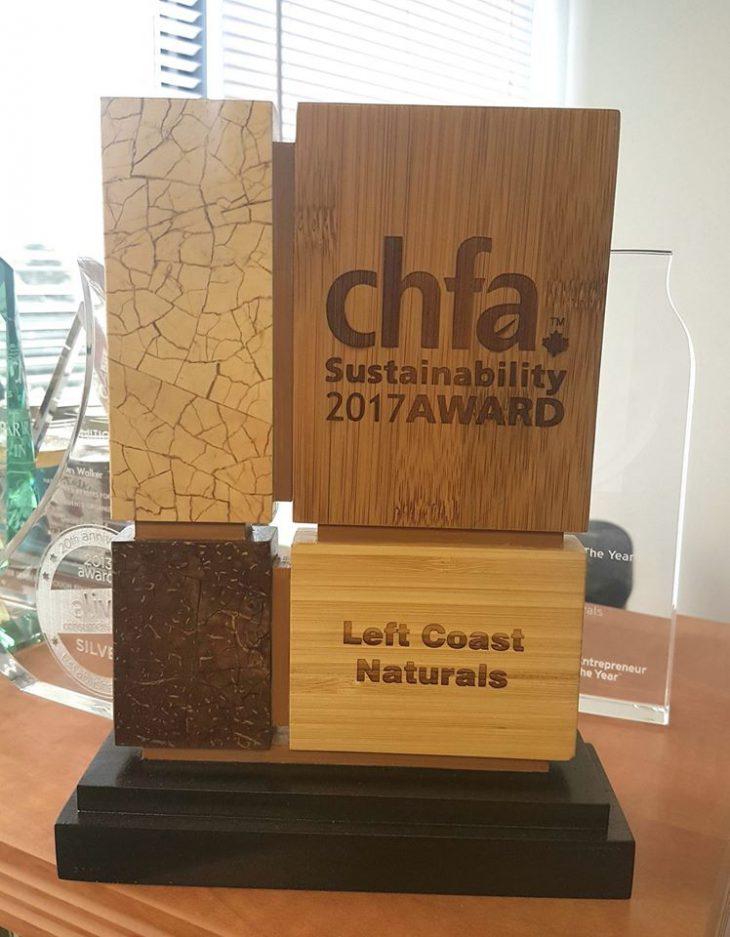 Left Coast's CHFA 2017 Sustainability Awaard